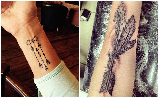 Tatuajes de flechas en fotos