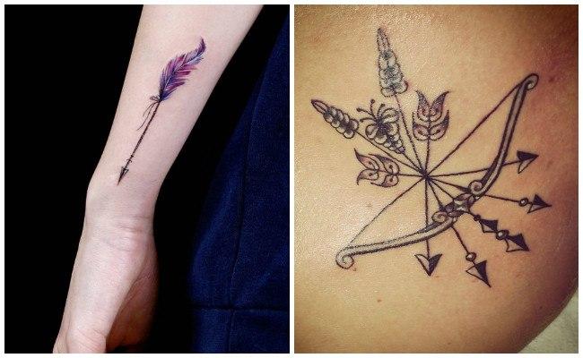 Tatuajes de flechas hipsters