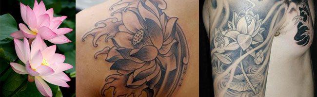 tatuajes de flores japonesas flor de loto