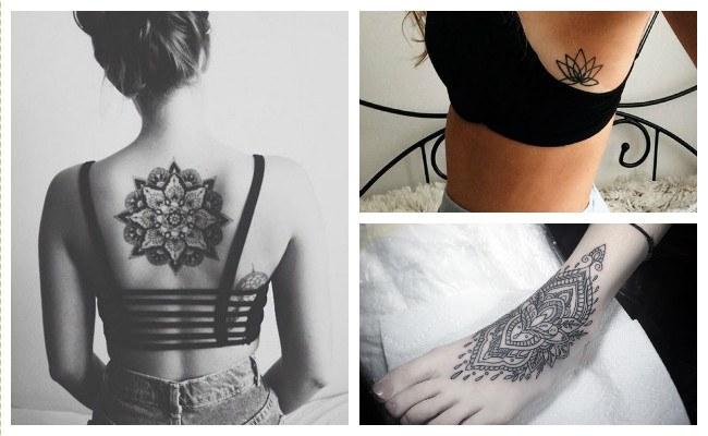 Tatuajes de flores mandalas