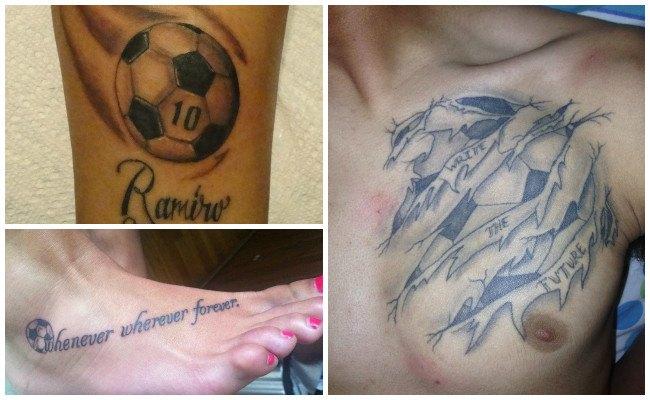 Tatuajes de fútbol con frases