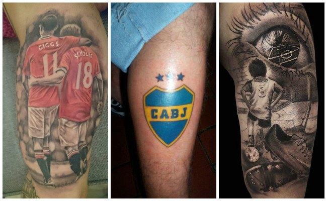 Tatuajes de fútbol en la pantorilla