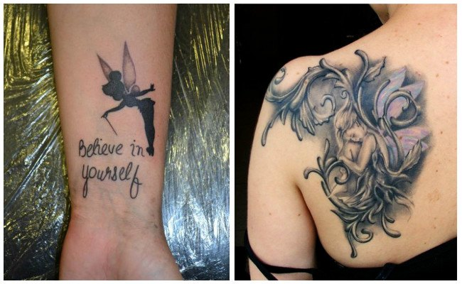 Tatuajes de hadas a color