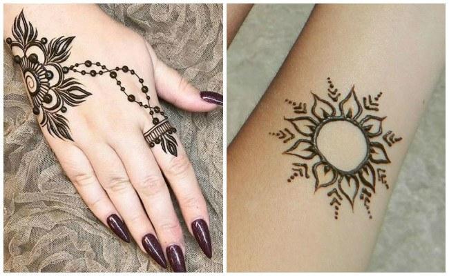 Tatuajes de henna de colores