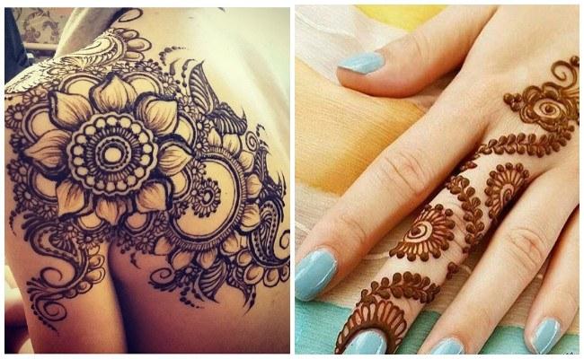 Tatuajes de henna en la espalda