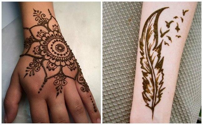 Tatuajes de henna en la mano