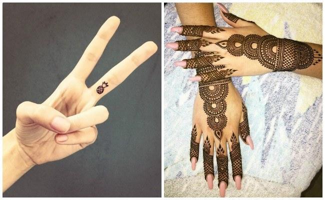Tatuajes de henna para embarazadas