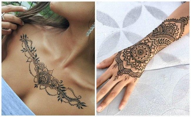 Tatuajes de henna para mujer
