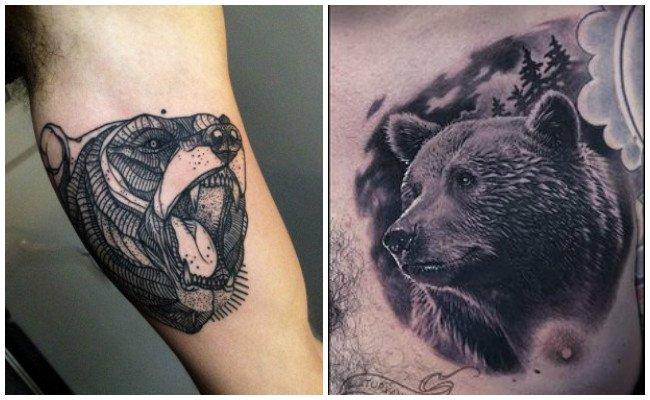 Tatuajes de huellas de osos