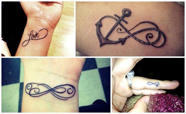 Tatuajes de infinito con flechas