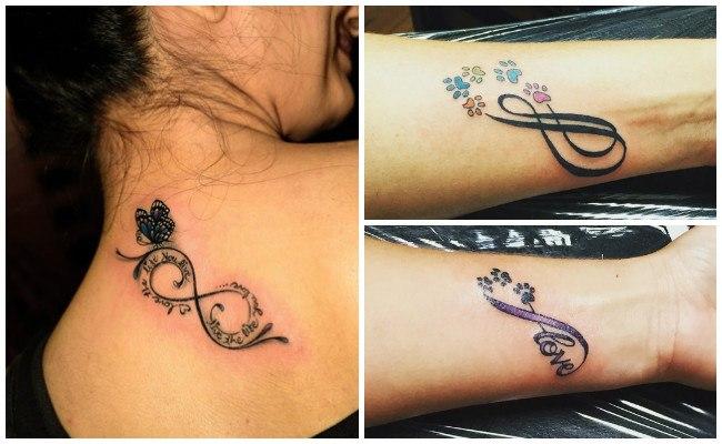 Tatuajes de infinito en la mano