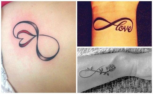 Tatuajes de infinitos con estrellas
