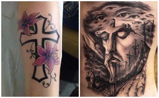 Tatuajes de Jesús en la cruz