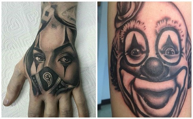 Tatuajes de jokers y payasos