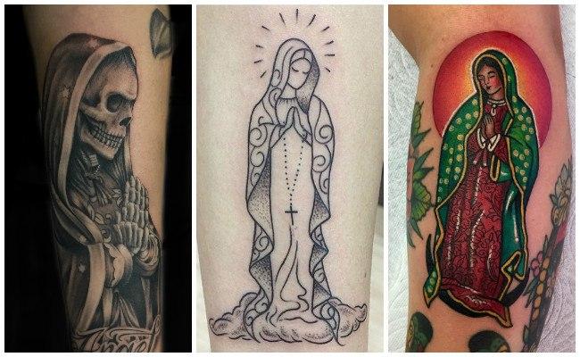Tatuajes de la virgen de guadalupe en el brazo