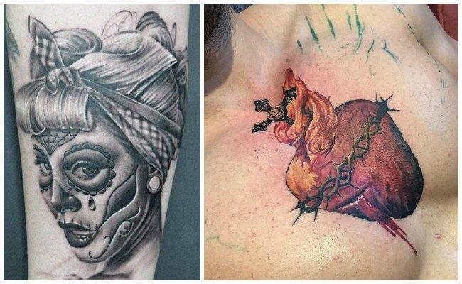 Tatuajes de la virgen de guadalupe en la mano