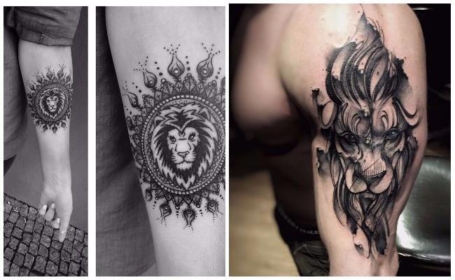 Tatuajes de leones alados