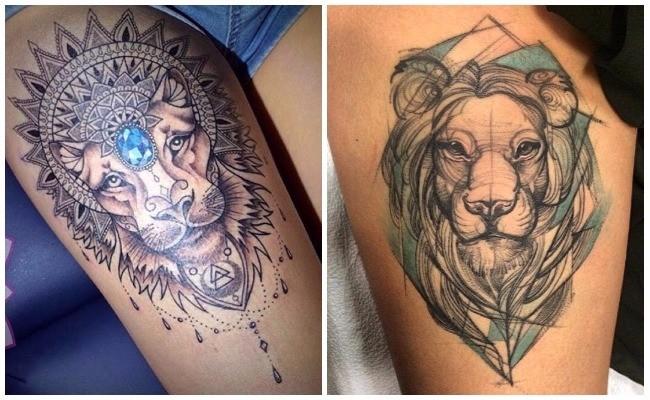 Tatuajes de leones en manada