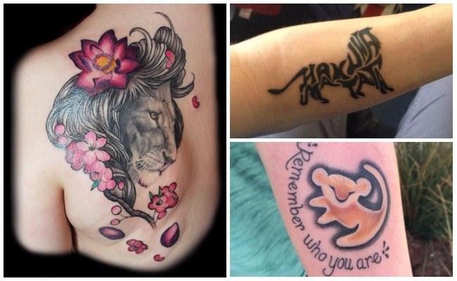 Tatuajes de leones para la espalda