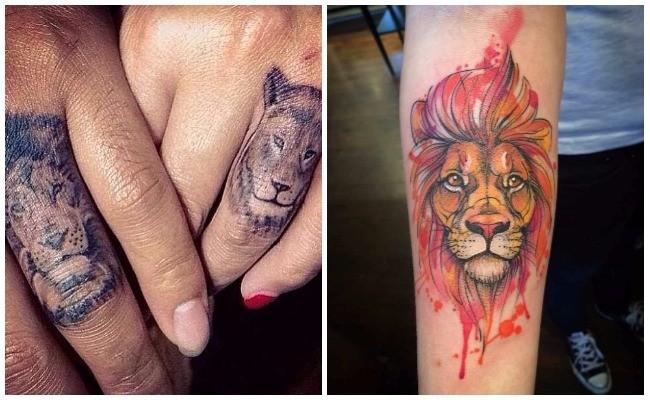 Fotos de tatuajes de leones realistas