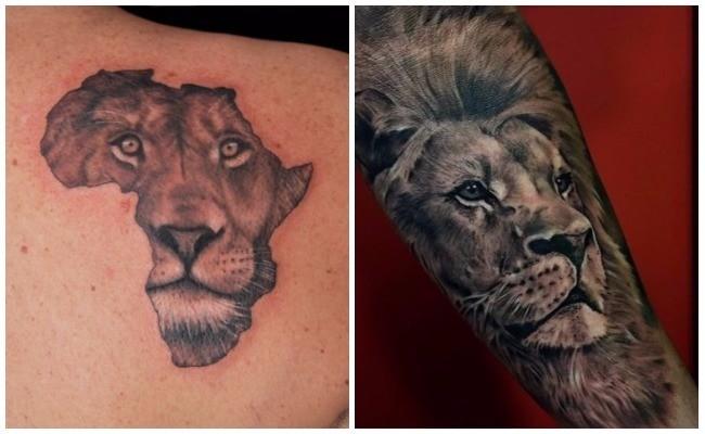 Tatuajes de leones sombreados