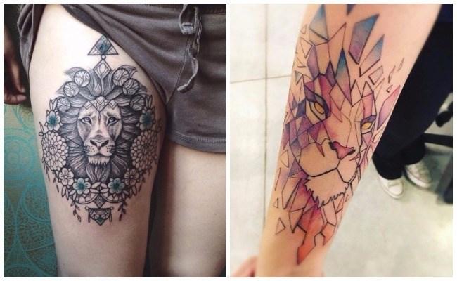 Tatuajes de leones tribales diseños