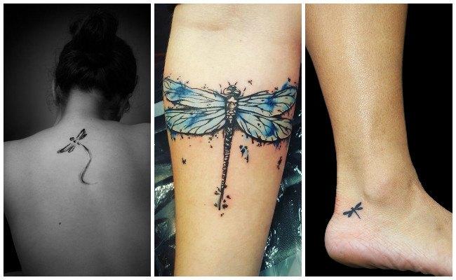 Tatuajes de libélulas y fotos