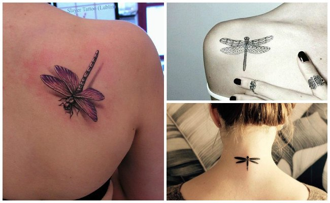 Tatuajes de libélulas para mujer