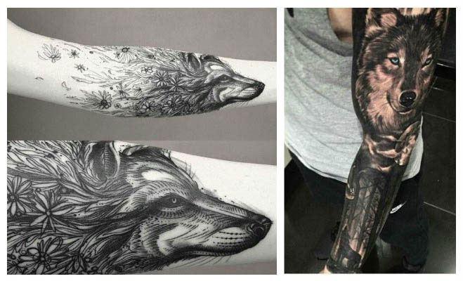Tatuajes de lobos corriendo