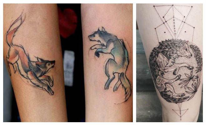 Tatuajes de lobos de colores fotos y significado