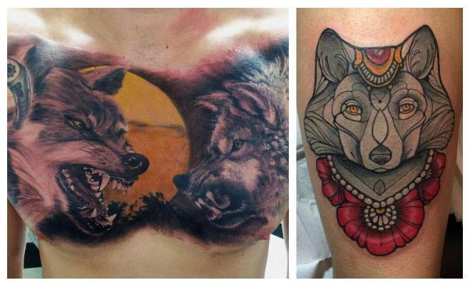 Tatuajes de lobos enojados