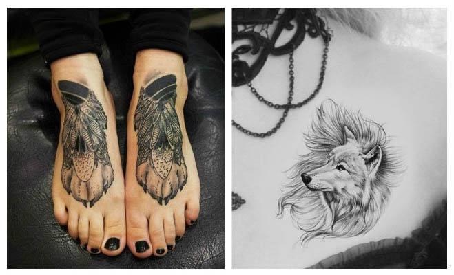 Tatuajes de lobos femeninos