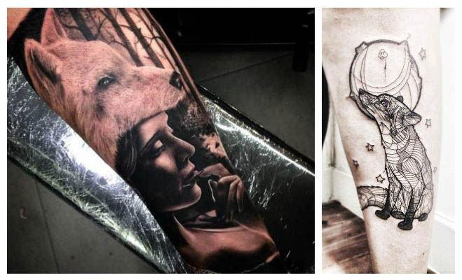 Tatuajes de lobos guerreros