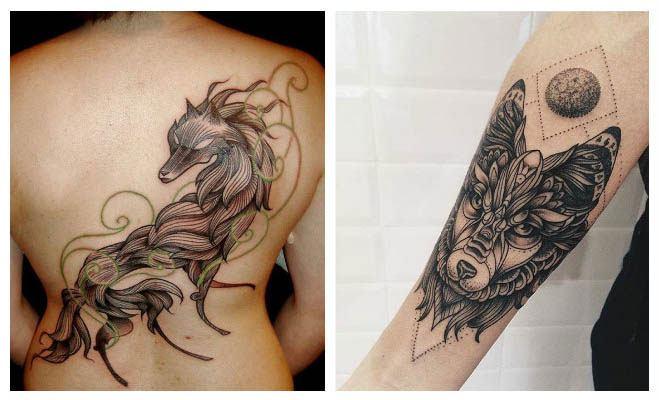 Tatuajes de lobos hipster