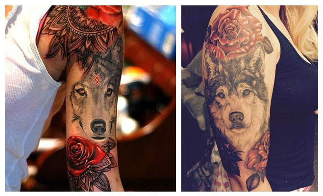 Tatuajes de lobos indios