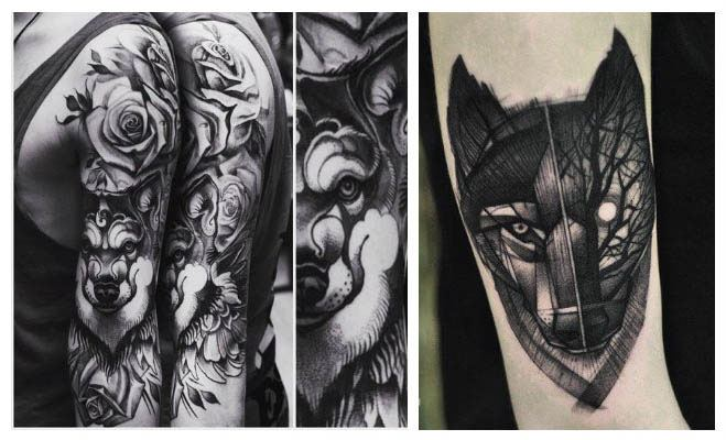 Tatuajes de lobos para hombres