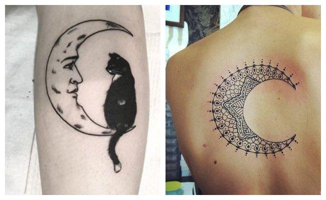 Tatuajes de lunas mandalas