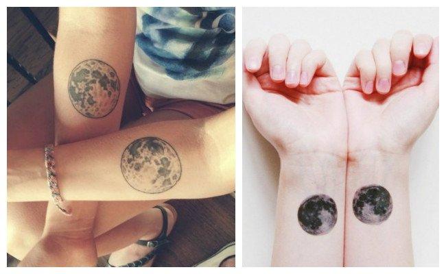 Tatuajes De Lunas Y Significado Lunas Llenas Pequenas Con Soles
