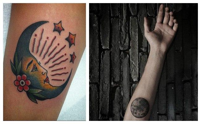 Tatuajes de lunas y estrellas