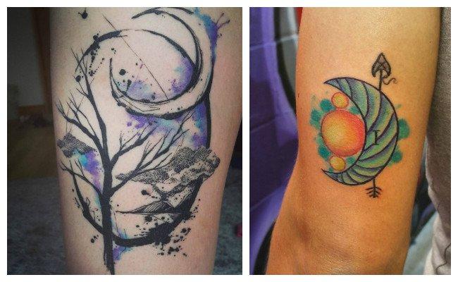 Tatuajes de lunas y soles