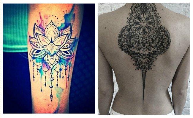 Tatuajes de mandalas en acuarela