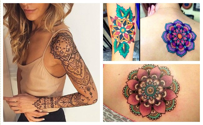 Tatuajes de mandalas de flores