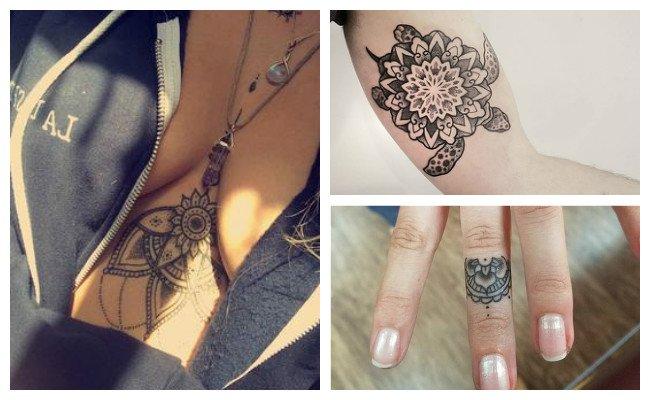 Tatuajes de mandalas bajo los senos