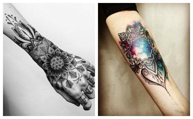 Tatuajes de mandalas en el brazo
