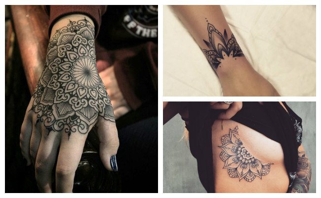 Tatuajes de mandala en la mano