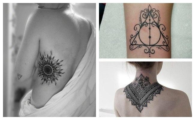 Tatuajes de mandalas en la espalda