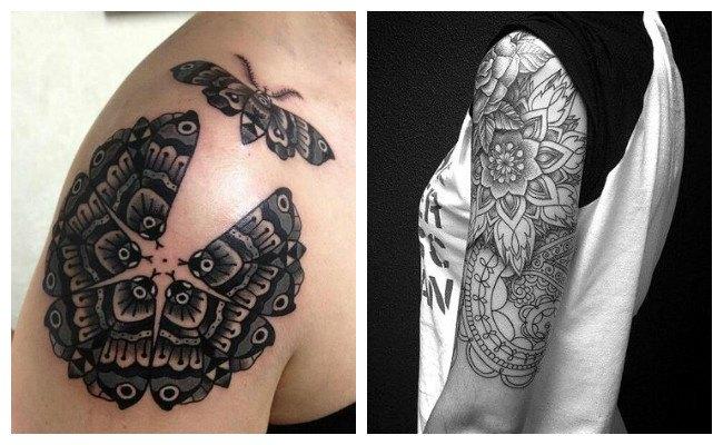 Tatuajes de mandalas hombre