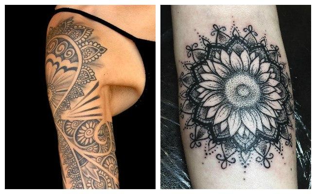 Tatuajes de mandalas en el hombro
