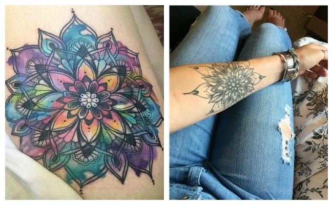 Tatuajes de mandalas para mujer a color