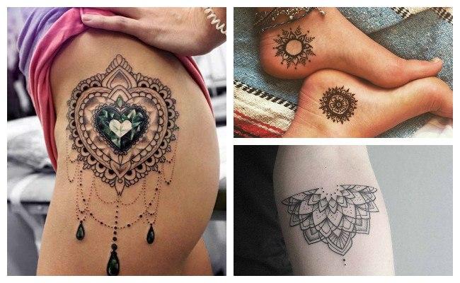 Tatuajes de mandalas en el muslo